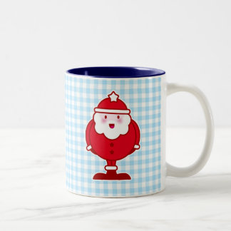 Kawaii Santa Two-Tone Coffee Mug