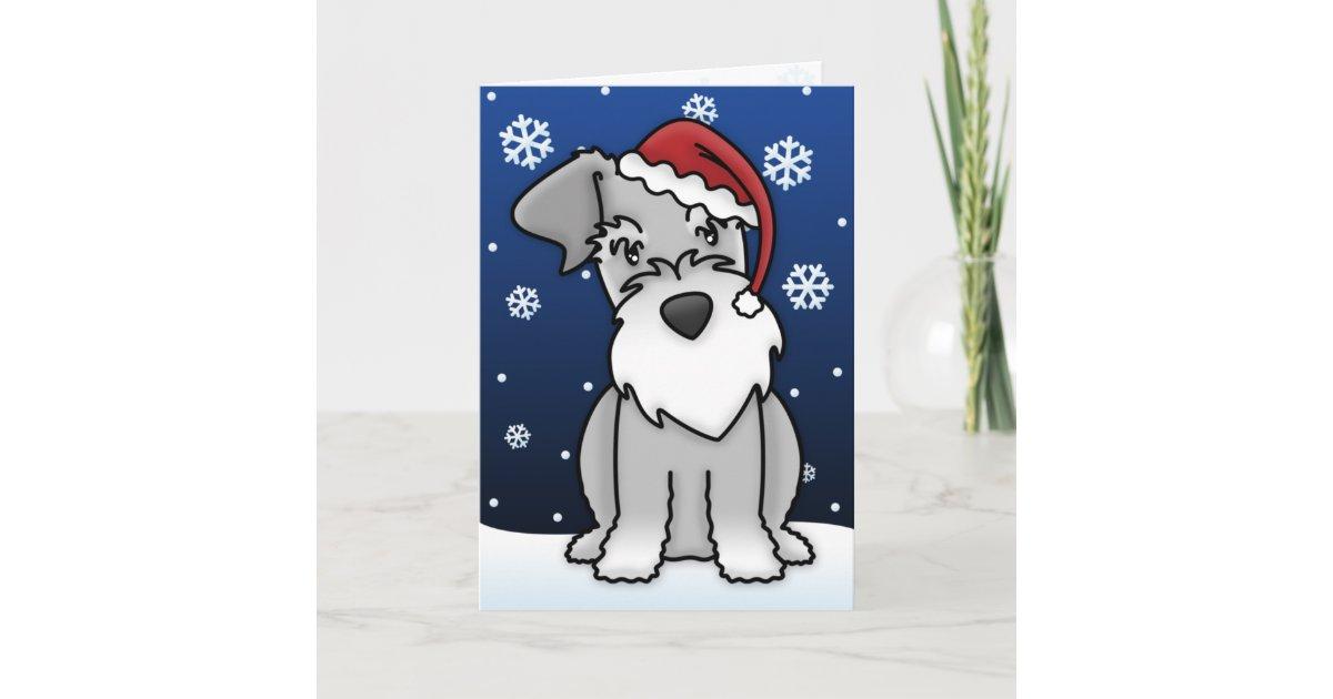 Kawaii Schnauzer Christmas Card | Zazzle.com