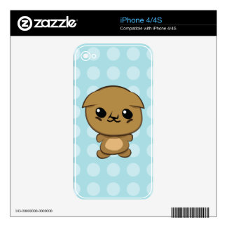 Kawaii Scottish Fold Munchkin Kitten iPhone skin Decal For iPhone 4