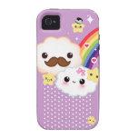 Kawaii se nubla con el arco iris y protagoniza en  Case-Mate iPhone 4 funda