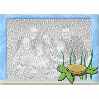 Kawaii Sea Turtle Photo Frame Cutout