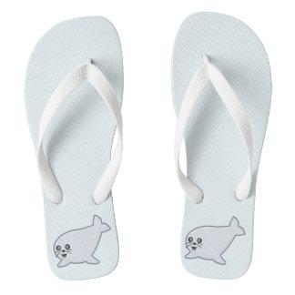Kawaii Seal Flip Flops