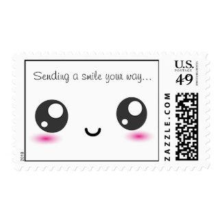 Kawaii send a smile stamps