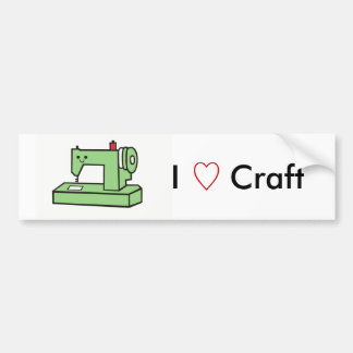 Kawaii Sewing Machine Bumper Sticker