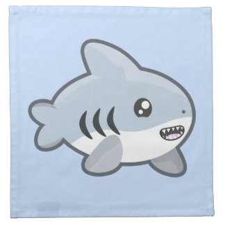 Kawaii Shark Cloth Napkin