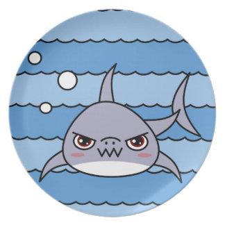 Kawaii Shark Dinner Plate
