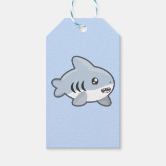 Kawaii Shark Gift Tags