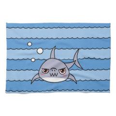 Kawaii Shark Hand Towels