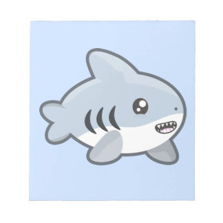 Kawaii Shark Notepad