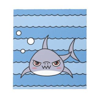 Kawaii Shark Notepad