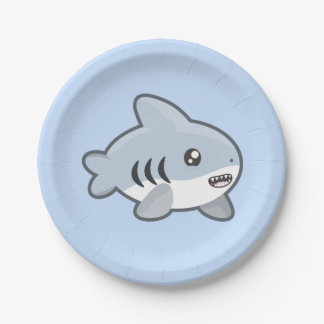 Kawaii Shark Paper Plate