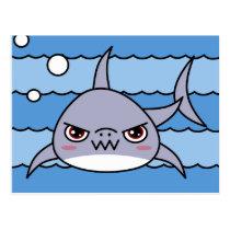 Kawaii Shark Postcard