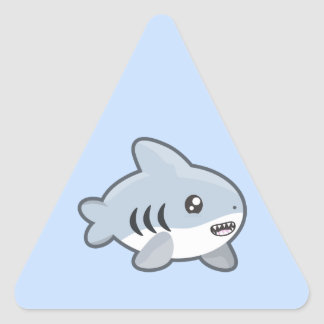 Kawaii Shark Triangle Sticker