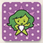 Kawaii She-Hulk Flex Beverage Coaster