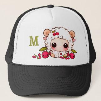 Kawaii sheep and cherries - Monogrammed Trucker Hat