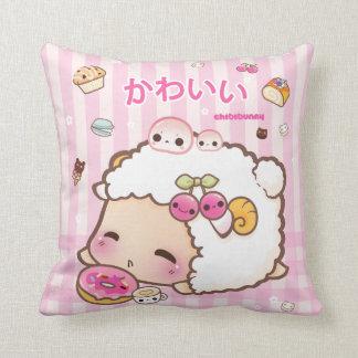 Kawaii sheep and cute donut pillow