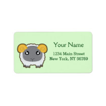 Kawaii sheep label