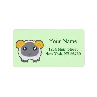 Kawaii sheep label