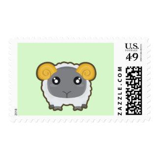 Kawaii sheep postage stamp