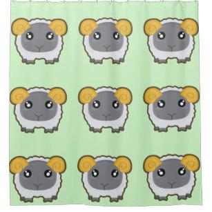 Kawaii Sheep Shower Curtain