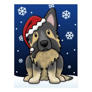 Kawaii Shiloh Shepherd Christmas Postcard