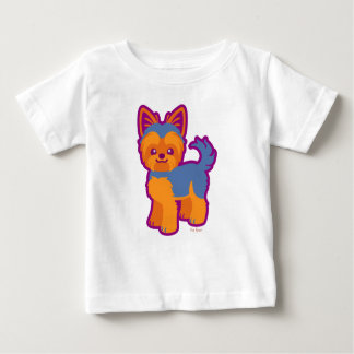 Kawaii Short Hair Yorkie Cartoon Dog Baby T-Shirt
