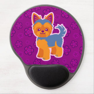 Kawaii Short Hair Yorkie Cartoon Dog Gel Mouse Pad