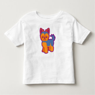 Kawaii Short Hair Yorkie Cartoon Dog Toddler T-shirt