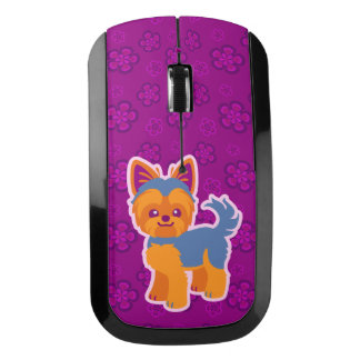 Kawaii Short Hair Yorkie Cartoon Dog Wireless Mouse