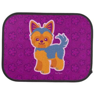 Kawaii Short Hair Yorkie Cartoon Dog Car Mat