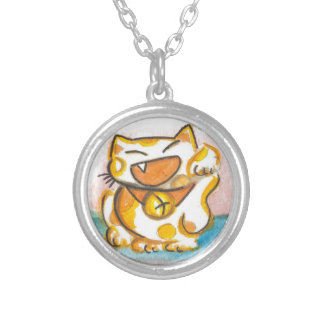 Kawaii Siamese Japanese Lucky Cat Necklace