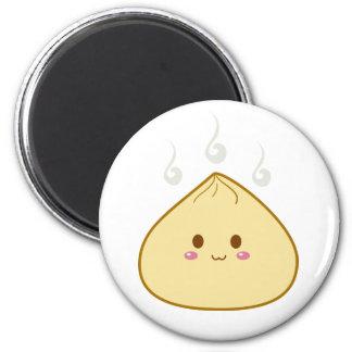 "Kawaii ""SioPao"" Meatbun 2 Inch Round Magnet"