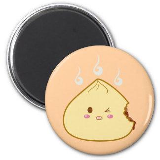 "Kawaii ""SioPao"" Meatbun Bitemark 2 Inch Round Magnet"