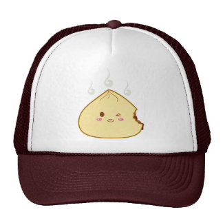 "Kawaii ""SioPao"" Meatbun Bitemark Trucker Hat"