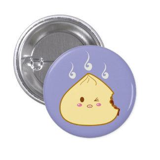 """Kawaii """"SioPao"""" Meatbun Bitemark Pin Redondo De 1 Pulgada"""