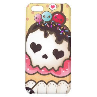 Kawaii skull cupcake case for iPhone 5C
