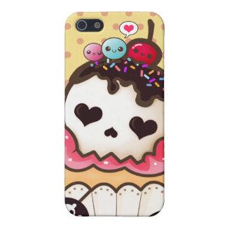 Kawaii skull cupcake iPhone 5 cover