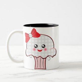 Kawaii Skull Cupcake mug