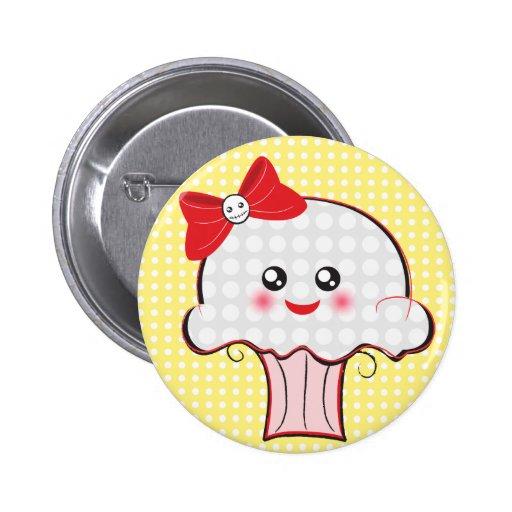 Kawaii Skull Cupcake Pin