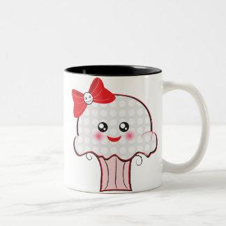 Kawaii Skull Cupcake Two-Tone Coffee Mug