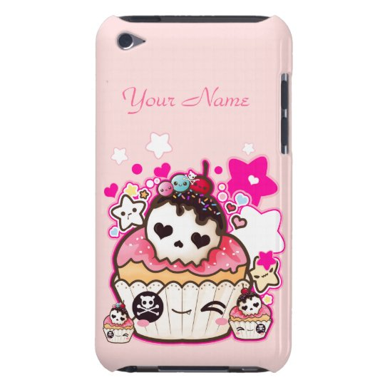 Kawaii skull cupcakes with cute stars iPod touch cover
