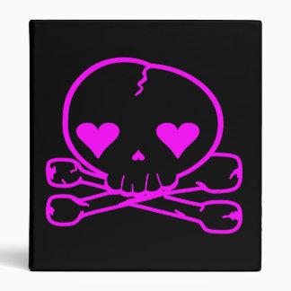 Kawaii Skull Death Rock Goth Pink & Black Binder