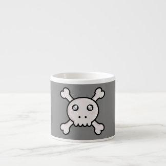Kawaii skull espresso cup