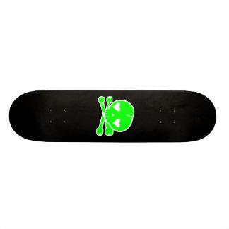 Kawaii Skull Gothic Lolita Black & Green Skateboard Deck