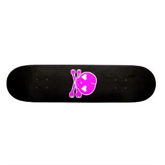 Kawaii Skull Gothic Lolita Black & Pink Skateboard