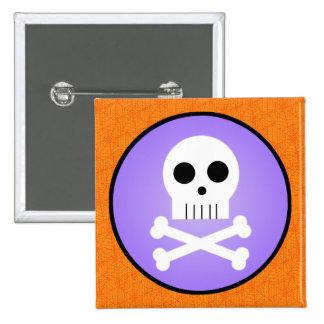 Kawaii Skull Halloween Button