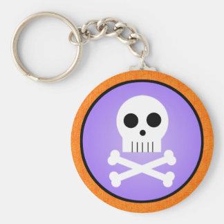 Kawaii Skull Halloween Keychain