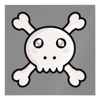 Kawaii skull magnetic card