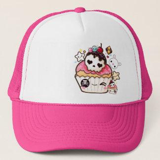 Kawaii skull pirate cupcake trucker hat