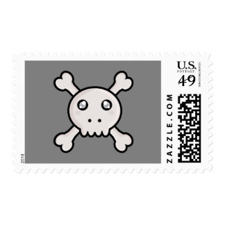 Kawaii skull stamps
